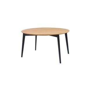 KALISTO oválny jedálenský stôl s čiernymi nohami