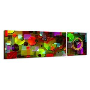 2-dielny obraz s hodinami, Element, 158x46cm