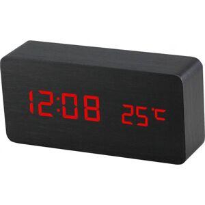 Digitálny LED budík s dátumom a teplomerom EuB8466 RED BLACK, 15cm