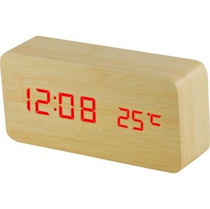 Digitálny LED budík s dátumom a teplomerom Isot7037, RED