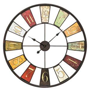 Dizajnové nástenné kovové hodiny 9488 AMS 80cm