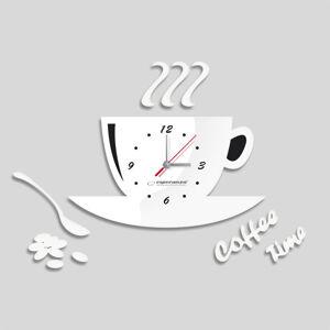 Nástenné hodiny DIY ESPA FLO006, Coffee Time White, 50x38cm