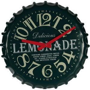 Hodiny Limonádová zátka 33cm