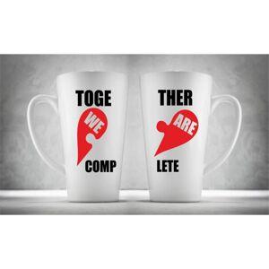 Hrnčeky pre páry Latte, Together We Are Complet, 2ks x 450ml