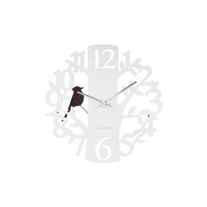 Kyvadlové nástenné hodiny Woodpecker 5690WH Karlsson 40cm