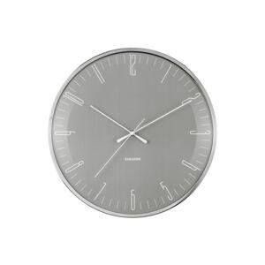 Nástenné hodiny Karlsson Dragonfly Dome glass KA5754GY, 40cm