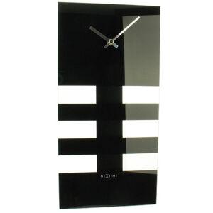 Bold Stripes kyvadlové nástenné hodiny Nextime 38x19cm