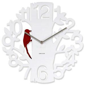 Nástenné hodiny Woodpecker 5393WH Karlsson 42cm