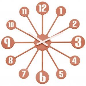 Nástenné hodiny PINBALL, Koziol, medená 45cm