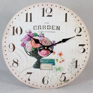 Nástenné hodiny HLC, The Garden, 34cm