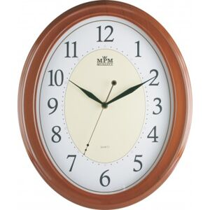 Nástenné hodiny MPM, 1898.52.SW - hnedá, 35cm