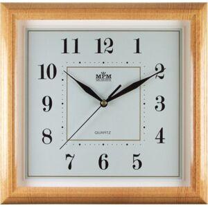 Nástenné hodiny MPM, 2415.60.SW - oranžová, 30cm