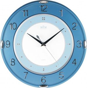 Nástenné hodiny MPM, 2419.30.SW - modrá, 30cm