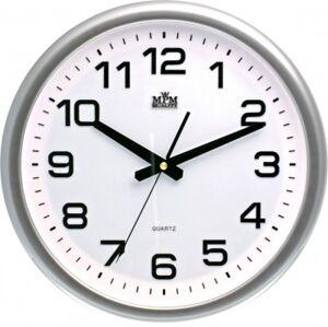 Nástenné hodiny MPM, 2450.7000.SW - strieborná/biela, 36cm