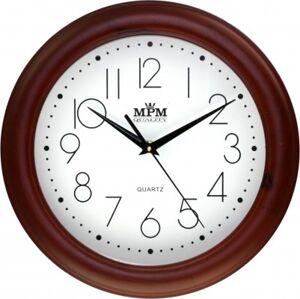 Nástenné hodiny MPM, 2473.52.W - hnedá tmavá, 28cm