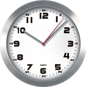 Nástenné hodiny MPM, 2482.7000 - strieborná/biela, 30cm