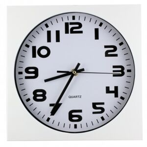 Nástenné hodiny MPM, 2500.00 - biela, 26cm