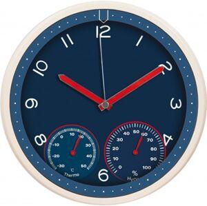 Nástenné hodiny MPM, 3084.30 - modrá, 31cm