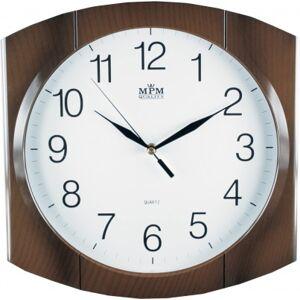 Nástenné hodiny MPM, 2437.52 - hnedá, 31cm