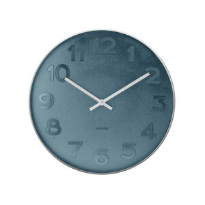 Nástenné hodiny Karlsson Mr. Blue KA5633, 51cm