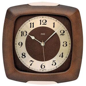 Nástenné hodiny 5804/1 AMS rádiom riadené 28cm