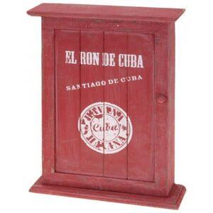 Nostalgická skrinka na kľúče, červená, Cuba