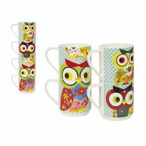 Sada hrnčekov INVOTIS Owl Mugs, 4ks