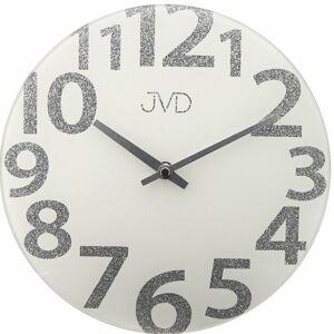Sklenené dizajnové nástenné hodiny JVD HO138.2, 26cm