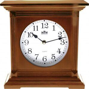Stolové hodiny MPM, 2705.50 - hnedá, 26cm