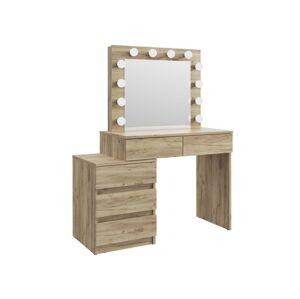 Toaletný stolík Marguerite de Valois - Hnedá