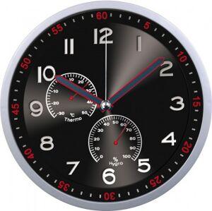 Nástenné hodiny MPM, 3085.7090 - strieborná/čierna, 30cm