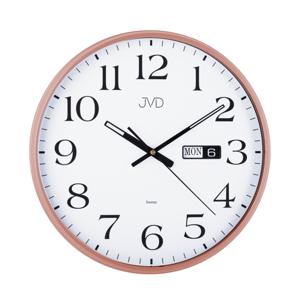 Nástenné hodiny JVD sweep HP671.5 Rosé 36cm