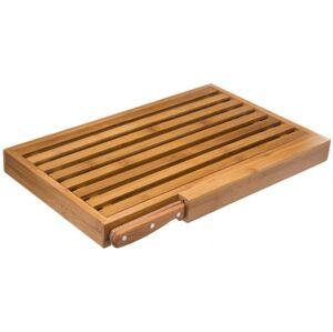 Bambusová doska na krájanie chleba s nožom 5Five 6517, 44 cm