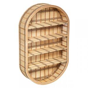 Nástenná polica z bambusu Lou Atmosphera 9501, 91 cm