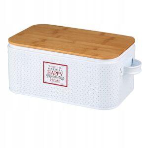 Chlebník Altom Design Happy home 3452, biely