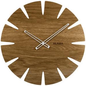 Dubové hodiny Vlaha so striebornými ručičkami VCT1031, 45cm