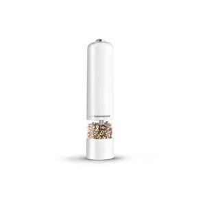 Elektrický mlynček na korenie s Led svetlom Espa, biely