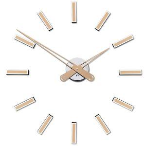 Dizajnové nalepovacie hodiny Future Time FT9600CM Modular champagne 60cm