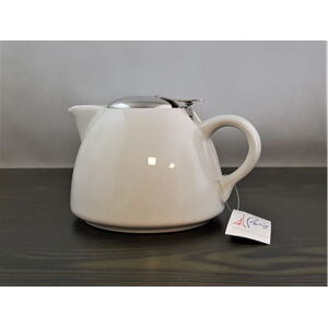 Keramická mini kanvica na čaj s filtrom Eub 650 ml, biela