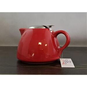 Keramická mini kanvica na čaj s filtrom Eub 650 ml, červená