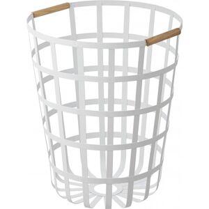 Kôš na bielizeň Yamazaki Tosca Laundry Basket, okrúhly / biely