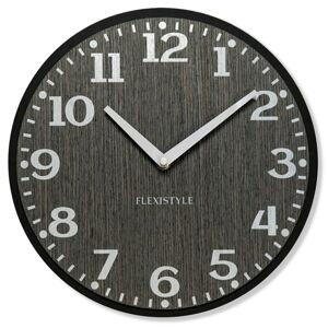 Dubové nástenné hodiny Elegante Flex z227-1d1a-0-x sivé, 30 cm