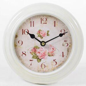 Nástenné hodiny Flor0083, Ruže, 21cm