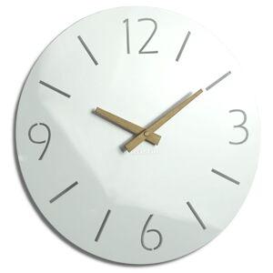 Dizajnové nástenné hodiny Slim Flex z111a-2-dx, 30 cm, biele