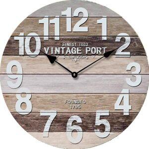 Nástenné hodiny Vintage port zent 1907, 45 cm