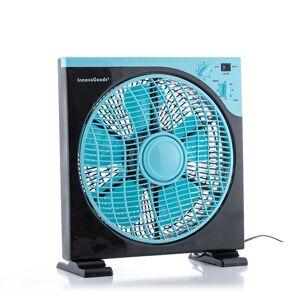 Podlahový ventilátor Box Fan InnovaGoods 3052, modro-čierny