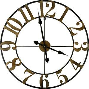 Designové nástenné hodiny Golden dial, 70cm